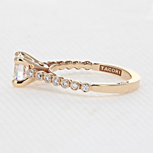 Tacori Sculpted Crescent Rose Gold Engagement Ring (200-2RD65PK)