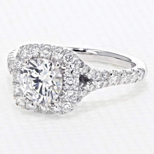 Halo Micro-Prong Engagement Ring (AV21)