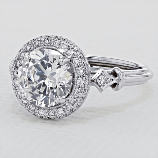Halo Pavé Engagement Ring (CR89)