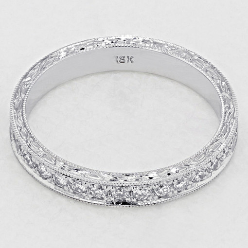 Pavé-Set Wedding Band (LB209)