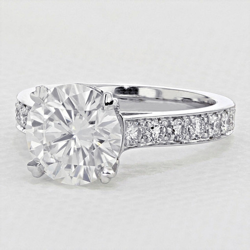 Pavé-Set Moissanite Engagement Ring (2006168)