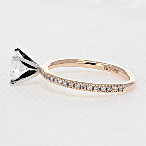 Rose Gold Moissanite Engagement Ring (GC11-M)