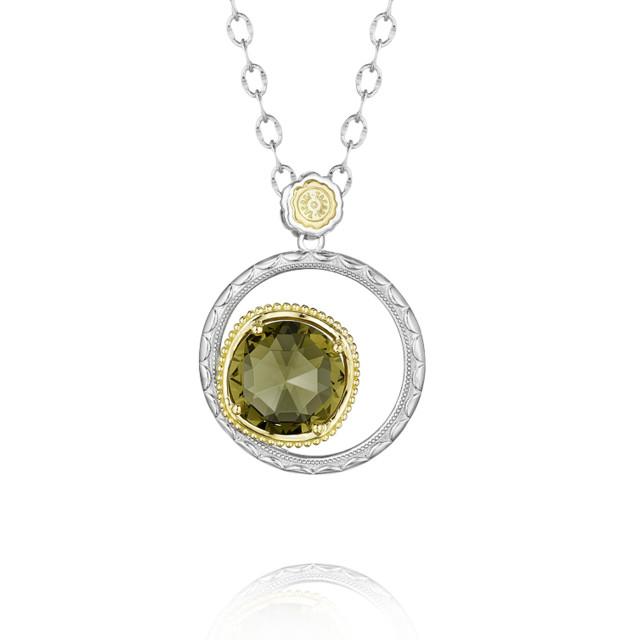 Gemma Bloom Olive Quartz Fashion Necklace (SN141Y10)