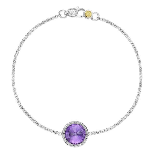 Crescent Embrace Amethyst Fashion Bracelet (SB16601)