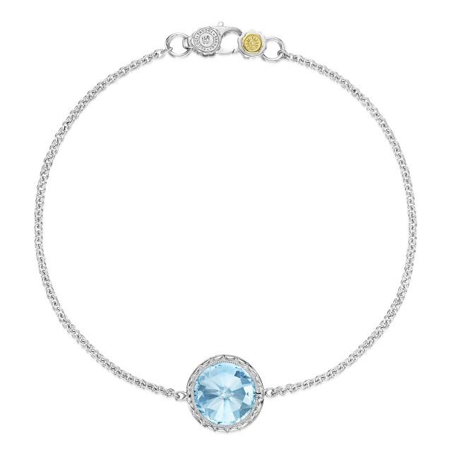 Crescent Embrace Sky Blue Topaz Fashion Bracelet (SB16602)