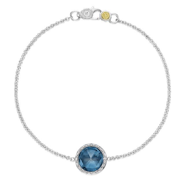 Crescent Embrace London Blue Topaz Fashion Bracelet (SB16633)