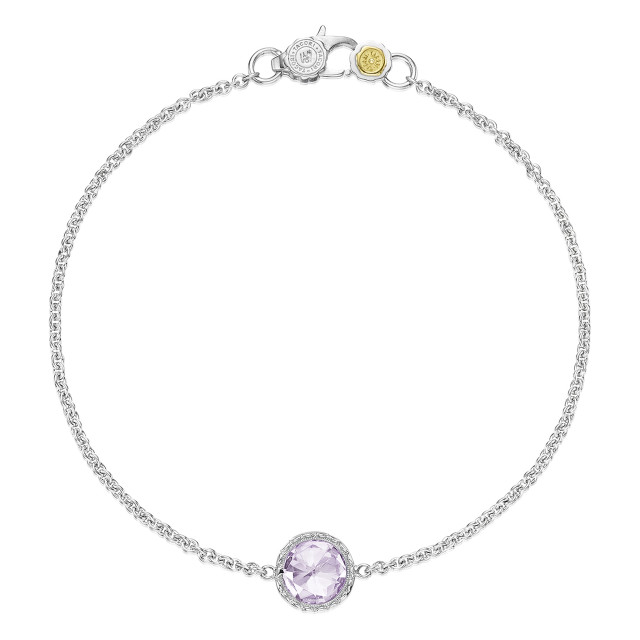Crescent Embrace Petite Rose Amethyst Fashion Bracelet (SB16713)