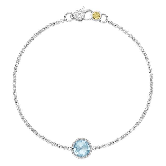Crescent Embrace Petite Sky Blue Topaz Fashion Bracelet (SB16702)