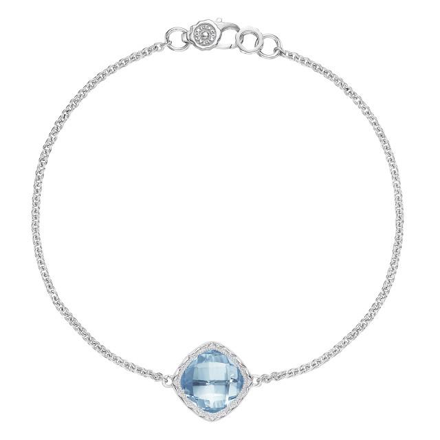 Crescent Embrace Sky Blue Topaz Fashion Bracelet (SB22302)