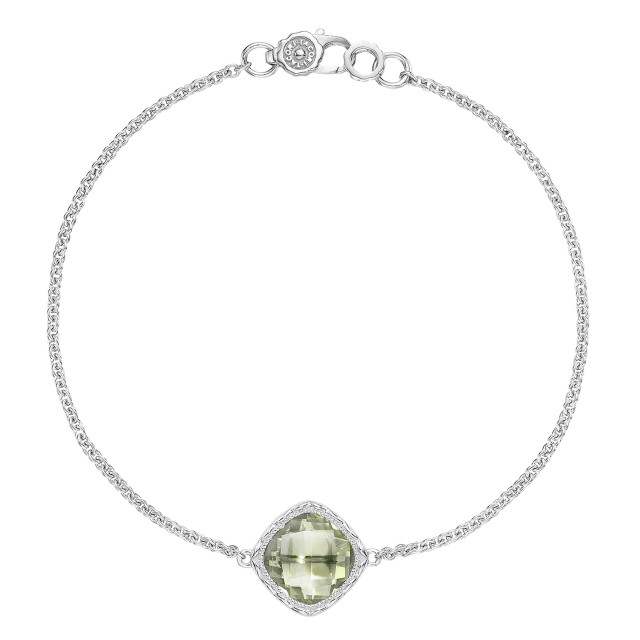Crescent Embrace Petite Prasiolite Fashion Bracelet (SB22312)