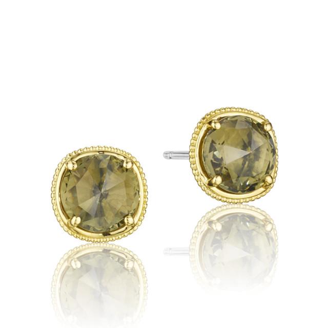 Gemma Bloom Olive Quartz Fashion Earrings  (SE154Y10)