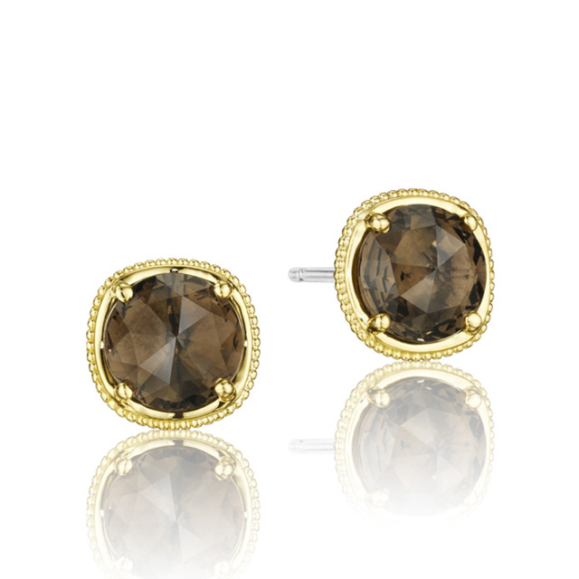 Gemma Bloom Smokey Quartz Fashion Earrings  (SE154Y17)