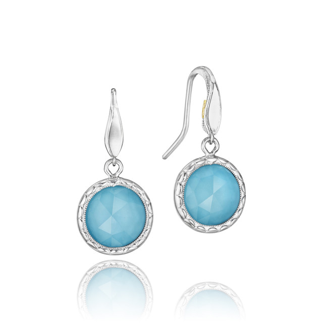 Crescent Embrace Neo-Turquoise Fashion Earrings  (SE15505)