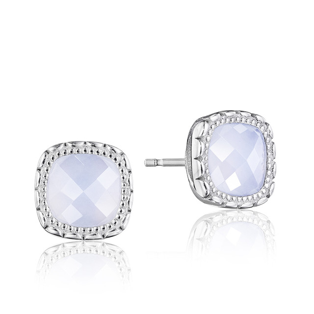 Crescent Embrace Chalcedony Fashion Earrings  (SE24503)