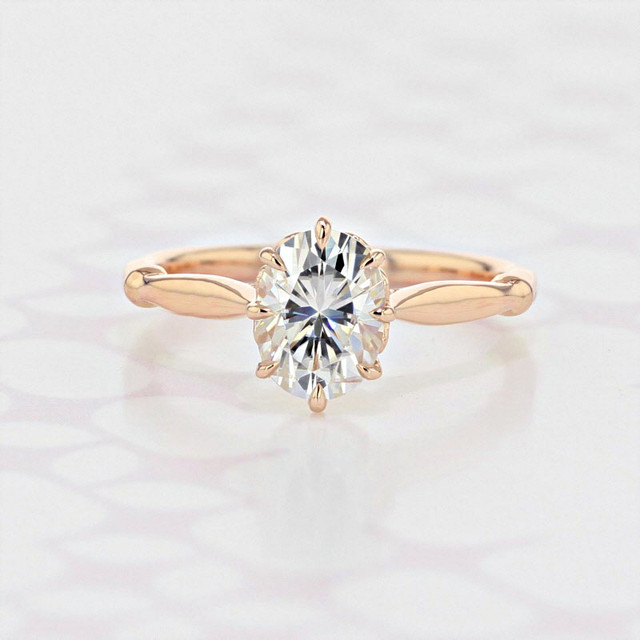 Gabriel NY Solitaire Oval Shape Moissanite Engagement Ring (2006193)