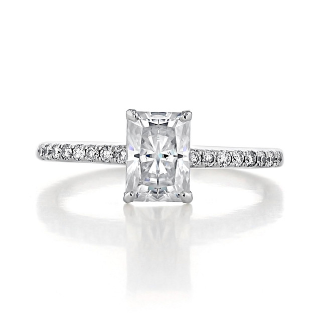 1.50 ct Radiant Cut Micro-Prong White Gold Engagement Ring (GC21)