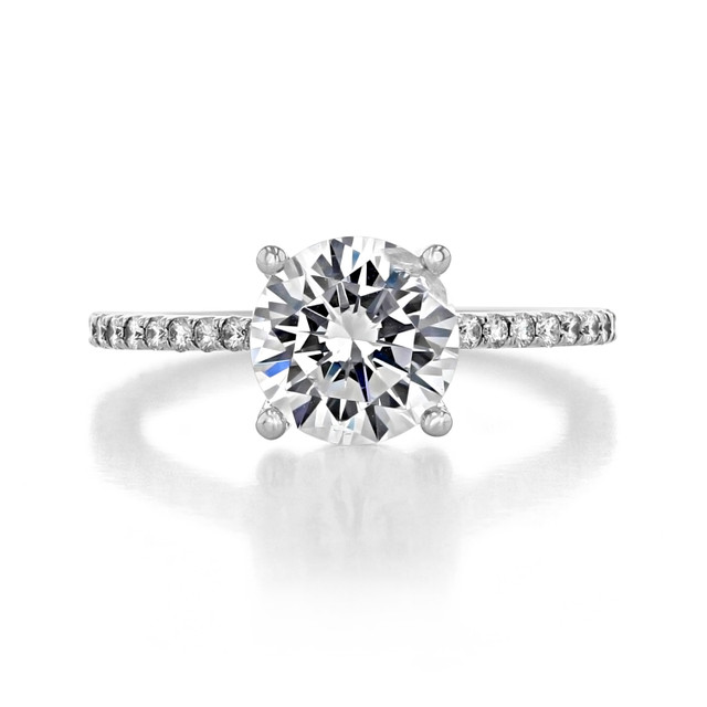 2 ct Round Micro-Prong White Gold Engagement Ring (FG88)