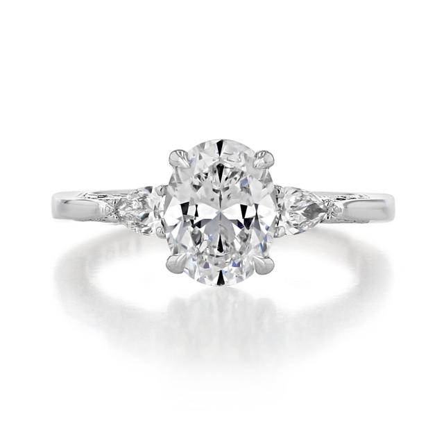 1.50 ct Simply Tacori White Gold Engagement Ring (2668OV85X65)