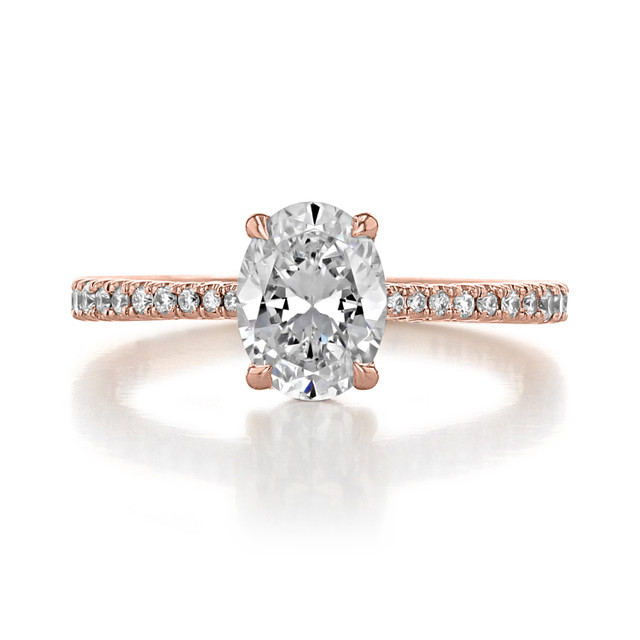 1.50 ct Simply Tacori Rose Gold Engagement Ring (2671OV8X6)