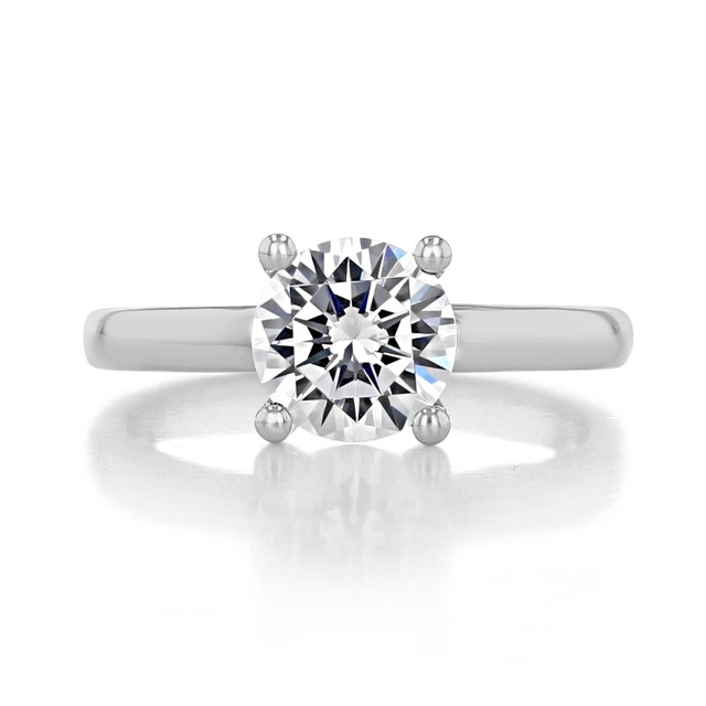 1.50 ct Round Gabriel Solitaire White Gold Engagement Ring (GC19SO-150)