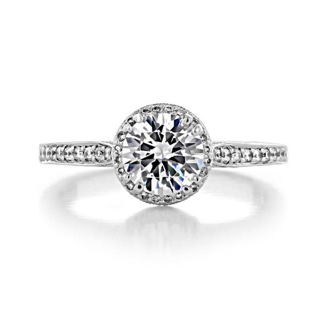 1 ct Tacori Dantela White Gold Engagement Ring (2639RDP65)
