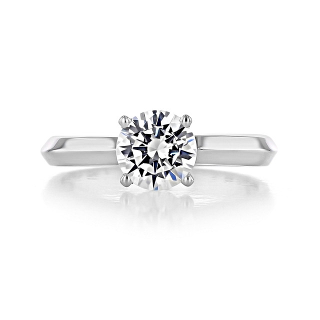 1 ct Round Solitaire White Gold Engagement Ring (SO21)