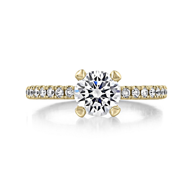 Tacori Petite Crescent Yellow Gold Engagement Ring (HT2545RD65Y)