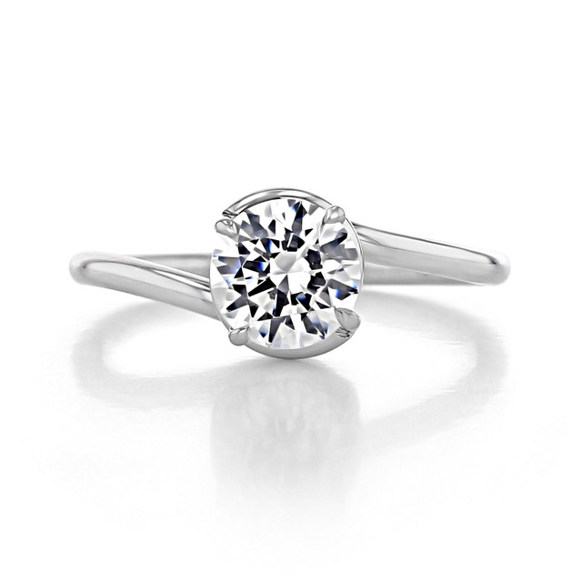 1 ct Danhov Abbraccio White Gold Engagement Ring  (AE136)