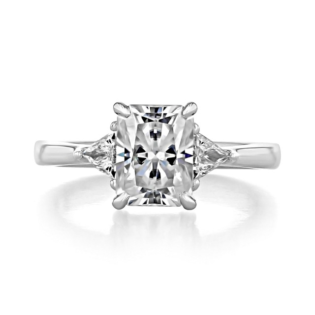 2.00 Ct. Radiant Cut Baguette Three-Stone Engagement Ring (TR95)