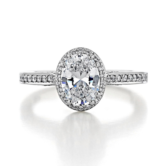 1.25 ct Tacori Dantela White Gold Engagement Ring (2620OVSMP)
