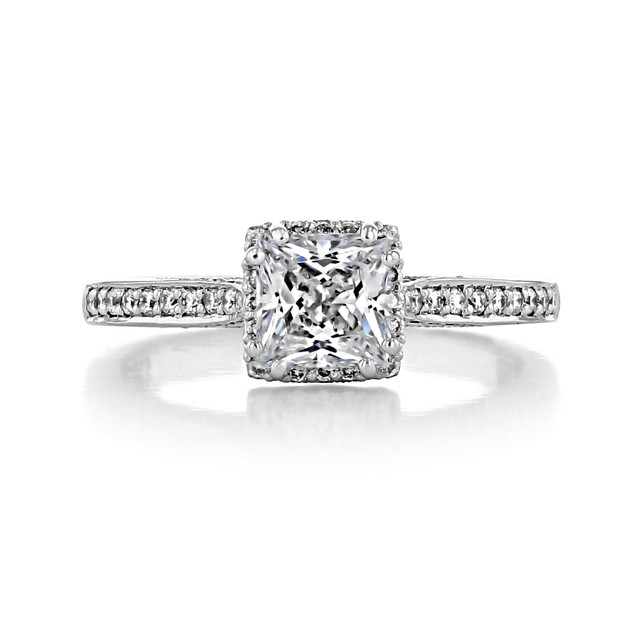 1 ct Tacori Dantela White Gold Engagement Ring (2620PRSMPW)