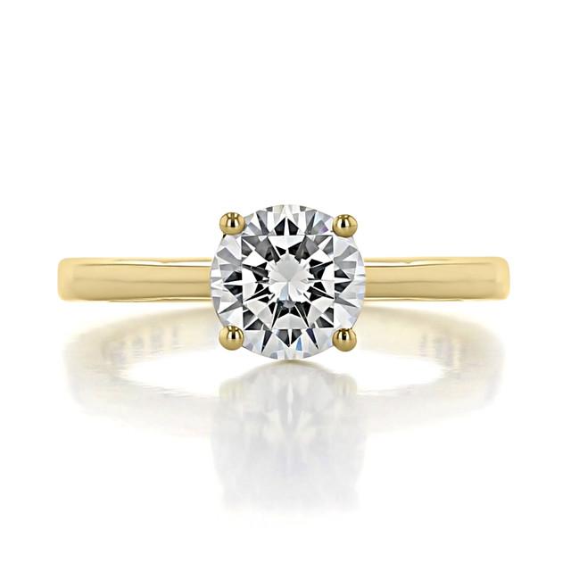 1.25 ct Tacori Coastal Crescent Yellow Gold Engagement Ring (P100RD7-YG)