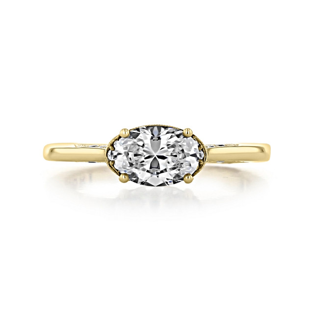 1 ct Simply Tacori Solitaire Yellow Gold Engagement Ring (2654OV75X55-YG)