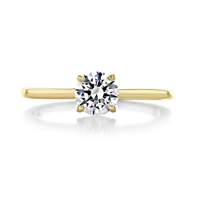 .50 ct Round Solitaire Yellow Gold Engagement Ring (SO72-YG)