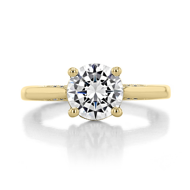 1.50 ct Tacori Dantela Yellow Gold Engagement Ring (2638RD75-YG)