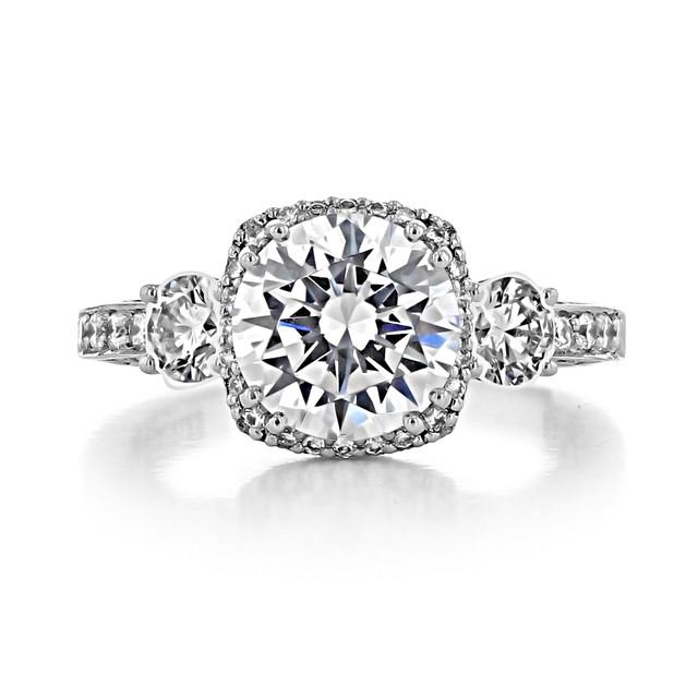 2.25 ct Tacori Dantela White Gold Engagement Ring (2623RDLGP)