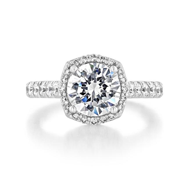 2 ct Tacori Petite Crescent White Gold Engagement Ring (HT254725CU8)