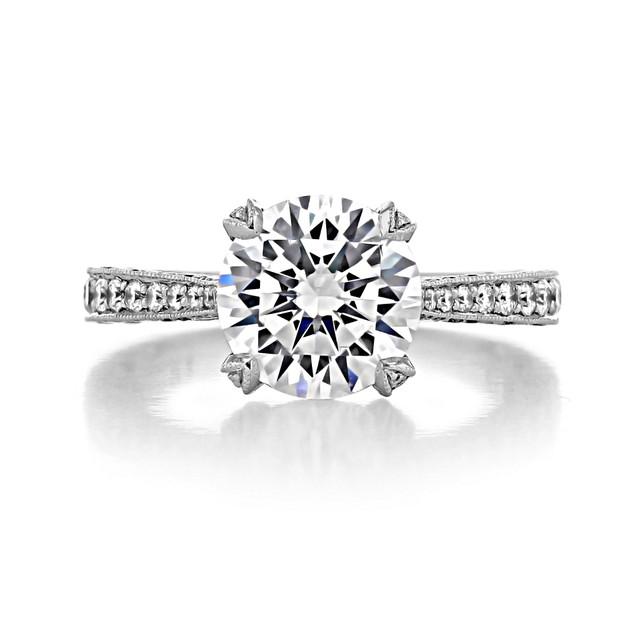 3 ct Tacori RoyalT Platinum Engagement Ring (HT2626RD9)
