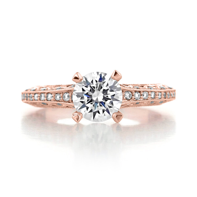 Tacori Classic Crescent Engagement Ring (2616RD65PK)