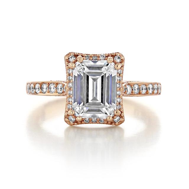 2 ct Tacori Dantela Rose Gold Engagement Ring (2620ECLGP)