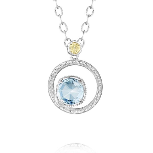 Gemma Bloom Sky Blue Topaz Necklace (SN14002)