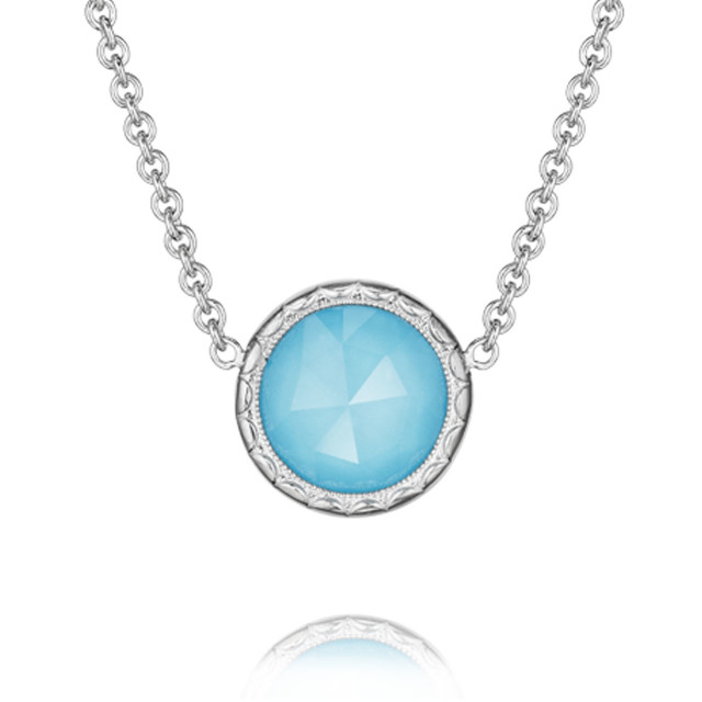 Crescent Embrace Neo-Turquoise Fashion Necklace (SN15305)