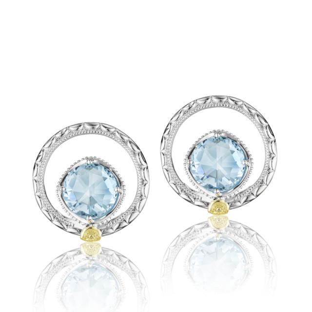 Gemma Bloom Sky Blue Topaz Fashion Earrings (SE14002)