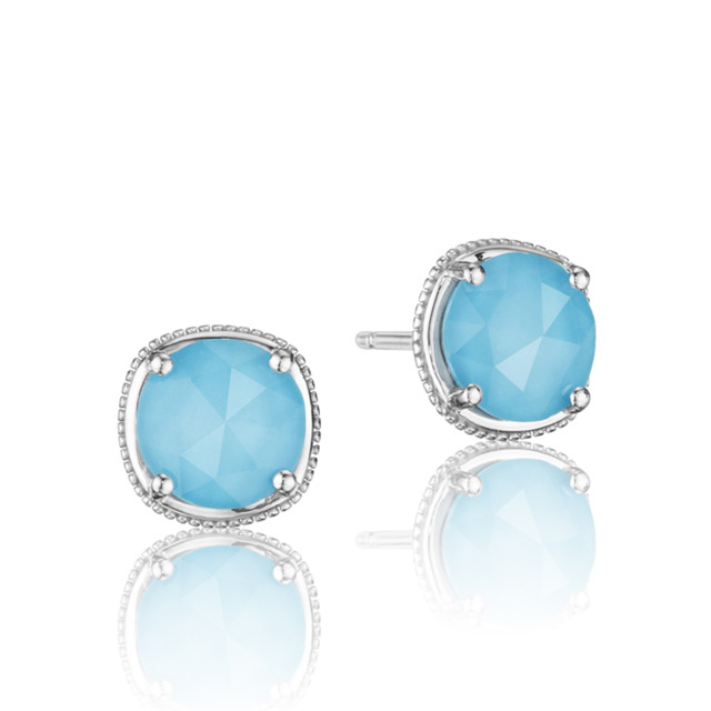 Gemma Bloom Neo-Turquoise Fashion Earrings (SE15405)