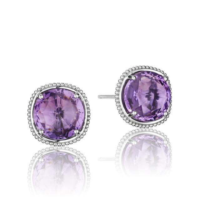 Gemma Bloom Bold Amethyst Fashion Earrings (SE15601)
