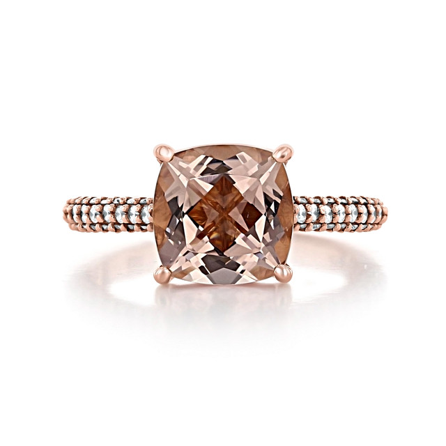 Rose Gold Morganite Engagement Ring (R940-4)