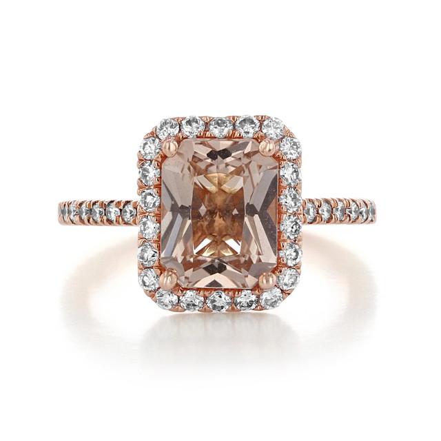 Rose Gold Morganite Engagement Ring (R893-4)