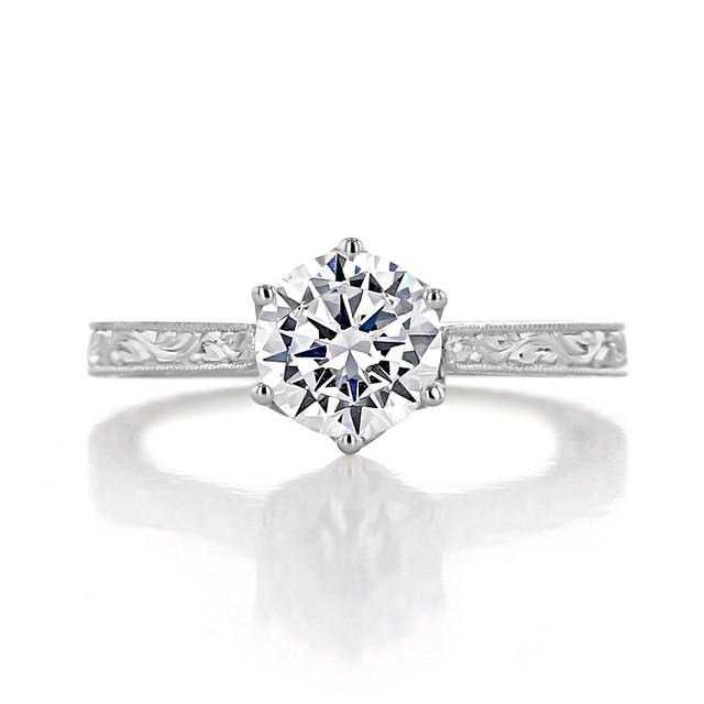 evertrue Engraved Engagement Ring (EV8)
