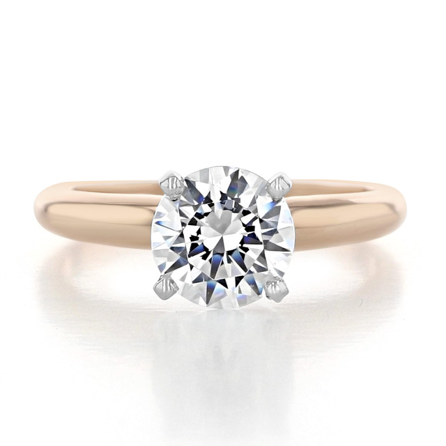 1.25 ct Round Solitaire Rose Gold Proposal Ring (SO38)