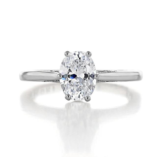 1 ct Simply Tacori Platinum Engagement Ring (2650OV8X6)